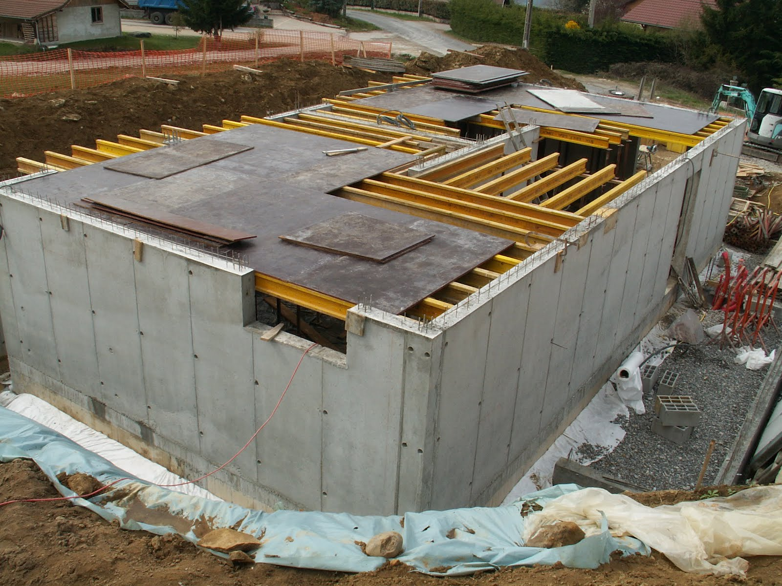 Construction d 39 une maison passive minergie p cruseilles for Couler dalle beton garage