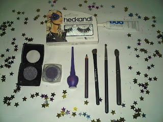 products used for purple smokey eye look