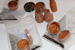 foundation samples, women of colour