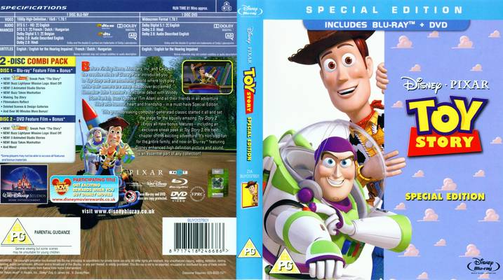 DVD Cover Toy Story 1995 disneyjuniorblog.blogspot.com