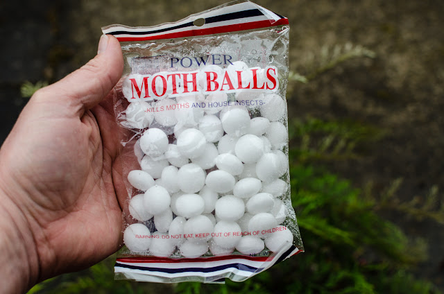 bag of mothballs