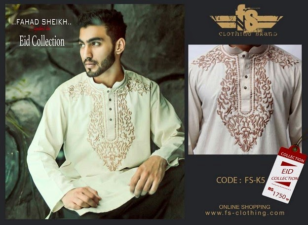 Embroidered kurta Designs for Eid