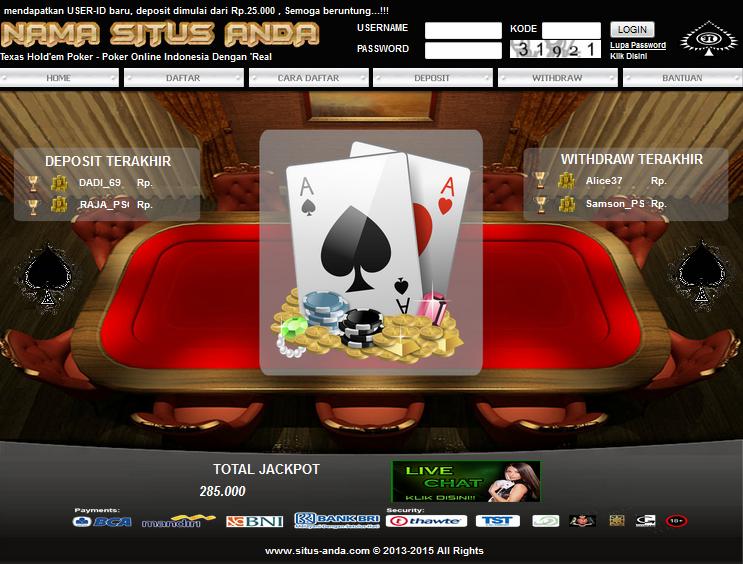 Jual Script Poker online Harga Murah