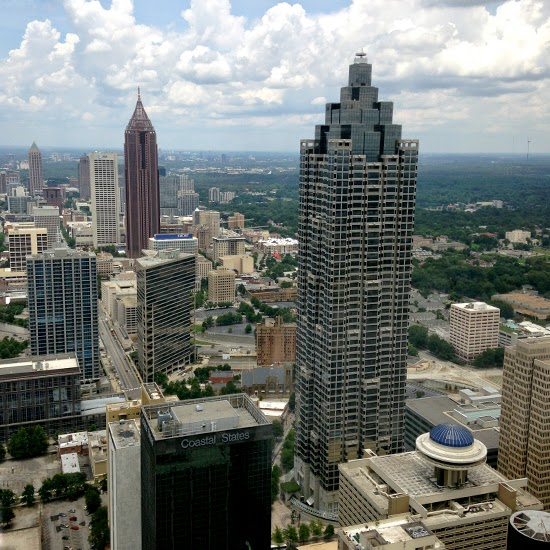 View from the Sun Dial Restaurant & View, Westin Peachtree Plaza Hotel