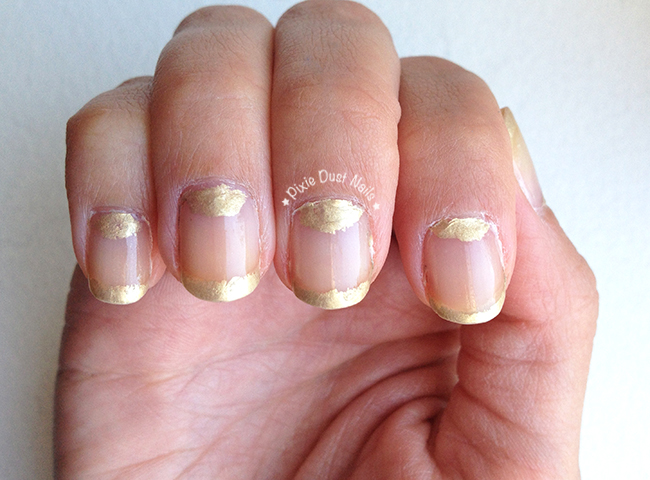"Delicate gold nails inspired by one of Elle's ""8 Runway Manicures You Need to Copy"""