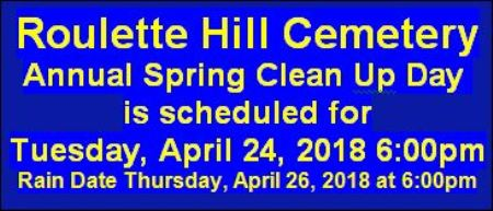 4-24 Hill Cemetery Spring Cleanup