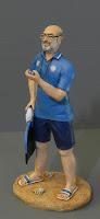 regali personalizzati statuine statuetta allenatore nuoto pinnato orme magiche