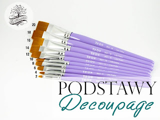 narzędzia do decoupage podstawy decoupage