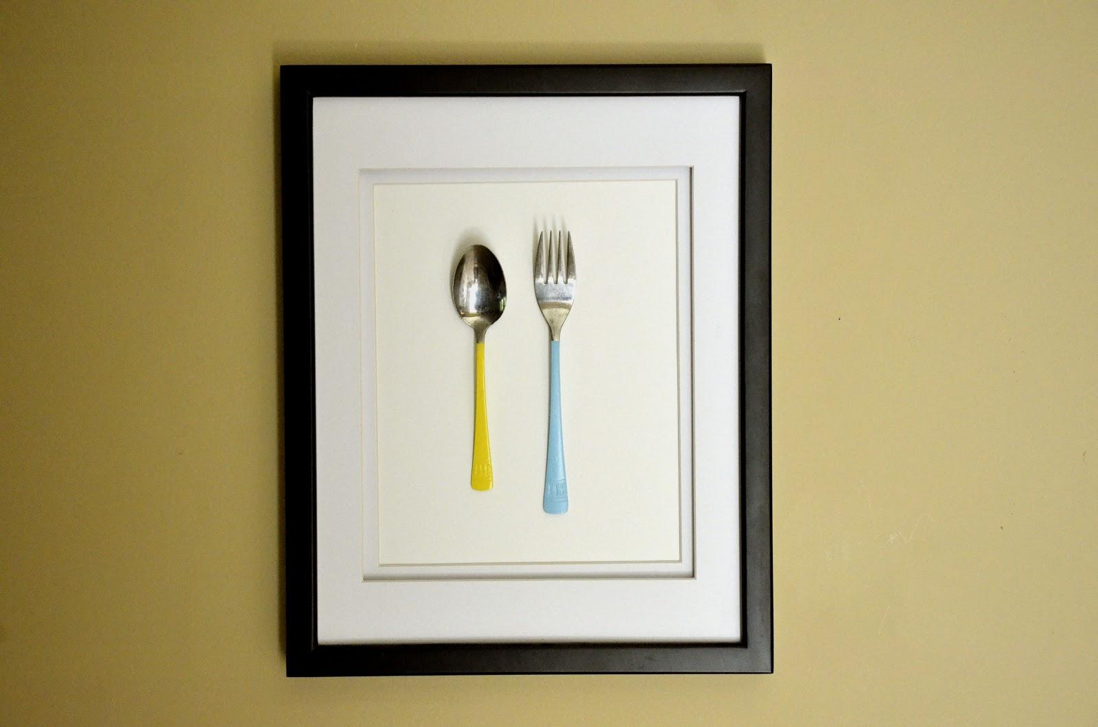 Colored Silverware   Framed Kitchen Art