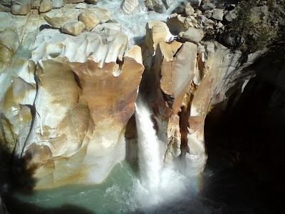 Magnificient Surya Kund waterfall at Gangotri