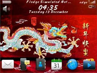 Tema Imlek di Home Screen BlackBerry
