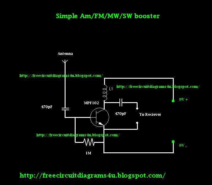 free circuit diagrams 4u simple am fm sw mw booster circuit rh freecircuitdiagrams4u blogspot com