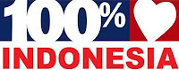 100 persen cinta Indonesia