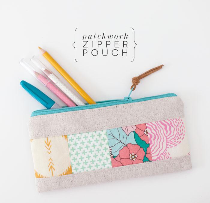 tutorial   patchwork zipper pouch: LBG STUDIO
