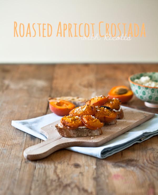 Lieblingsstulle mit gegrillten Aprikosen und Ricotta