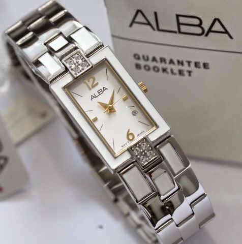 Alba AH 7C02 SS Original Silver Putih