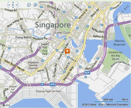 Detail View Point Singapore Location Map – Tourist Map Of Singapore City