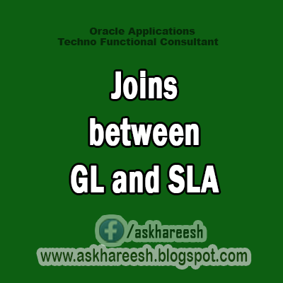 Joins between General Ledger and Sub Ledger Accounting, AskHareesh