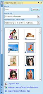 Insertar imágenes en Word 2007