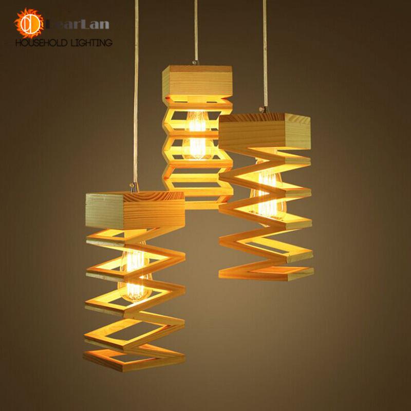 luminária madeira reuso