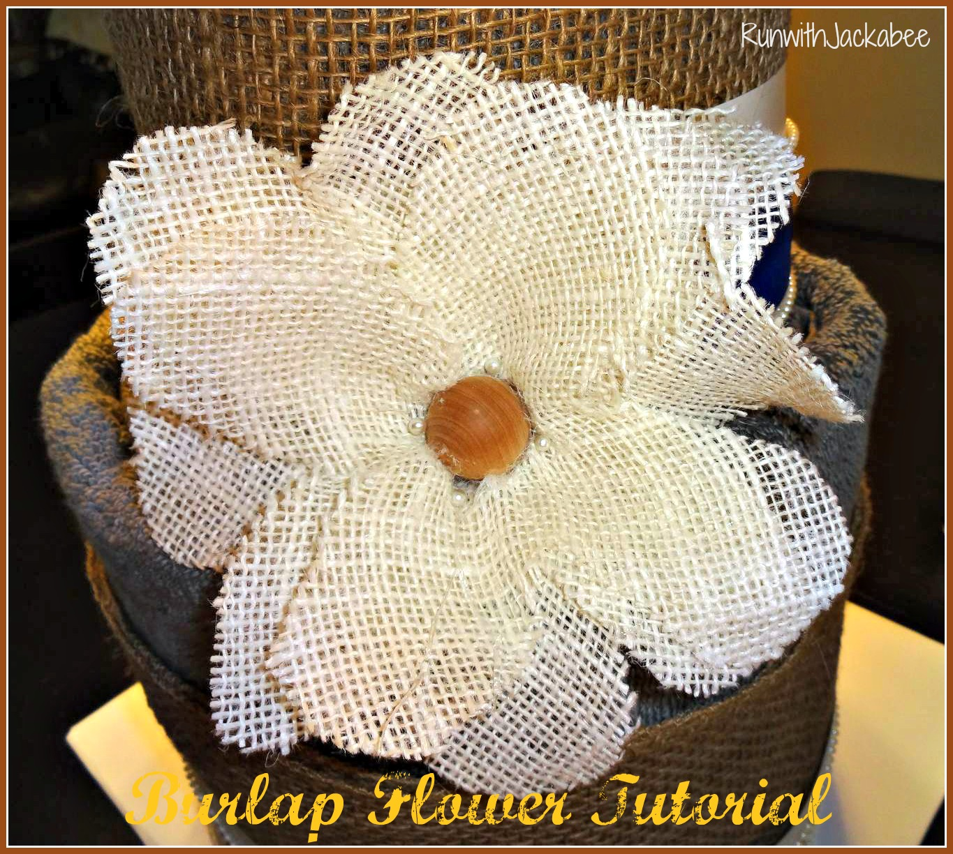 RunwithJackabee Burlap Flower Tutorial