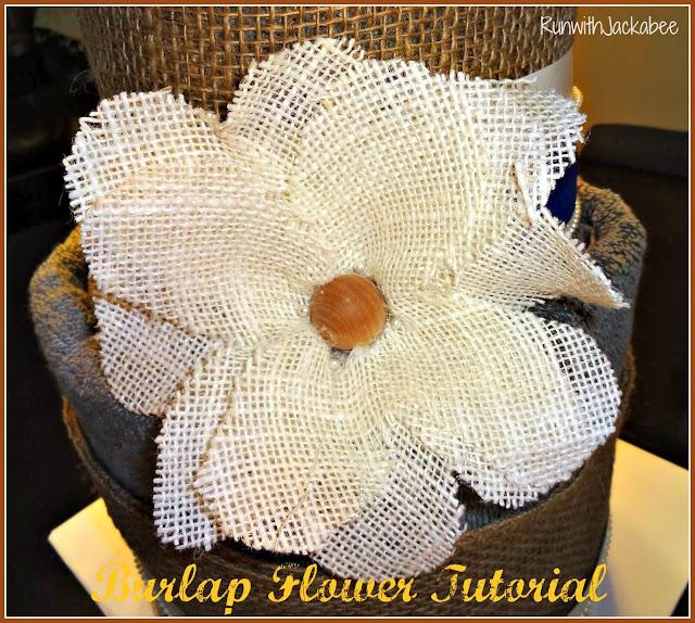 Runwithjackabee burlap flower tutorial for Burlap flower template