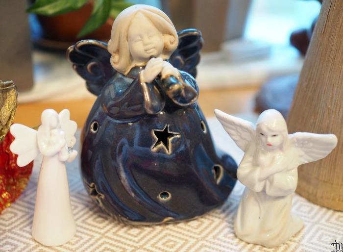 sininen koriste-enkeli