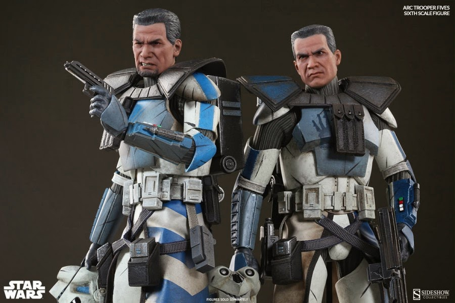 Sideshow Collectibles Star Wars Clone Wars ARC TROOPERS ECHO U0026 FIVES