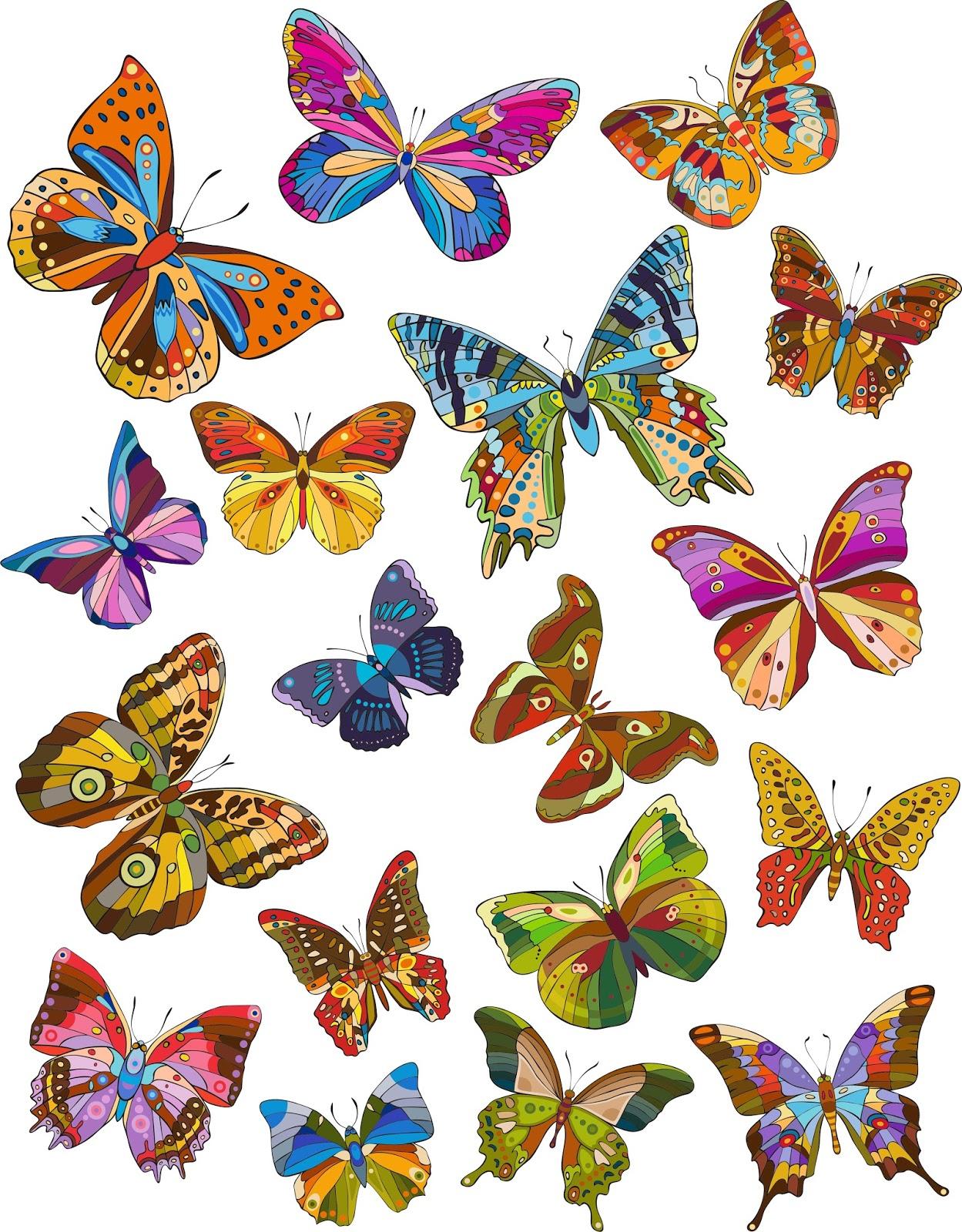banco de im genes 18 ilustraciones de mariposas de