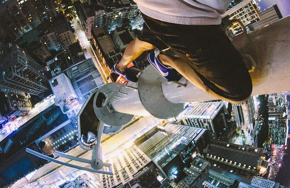 صورة من أعلى مانع الصواعق في الصين