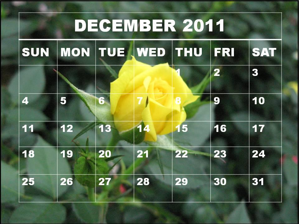 calendar of 2011. Blank Calendar 2011 December
