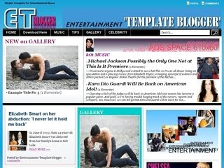 entertaintment blogger template,ET blogger template