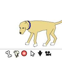 Флеш собака для твоего блога