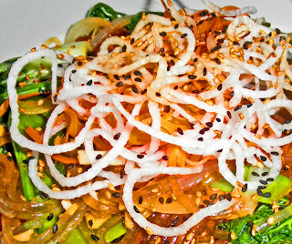 ... Corner: KOREAN VERMICELLI (GLASS) SWEET POTATO NOODLES WITH VEGETABLES