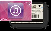 Tarjeta iTunes Gift Card de 15 dólares raspada