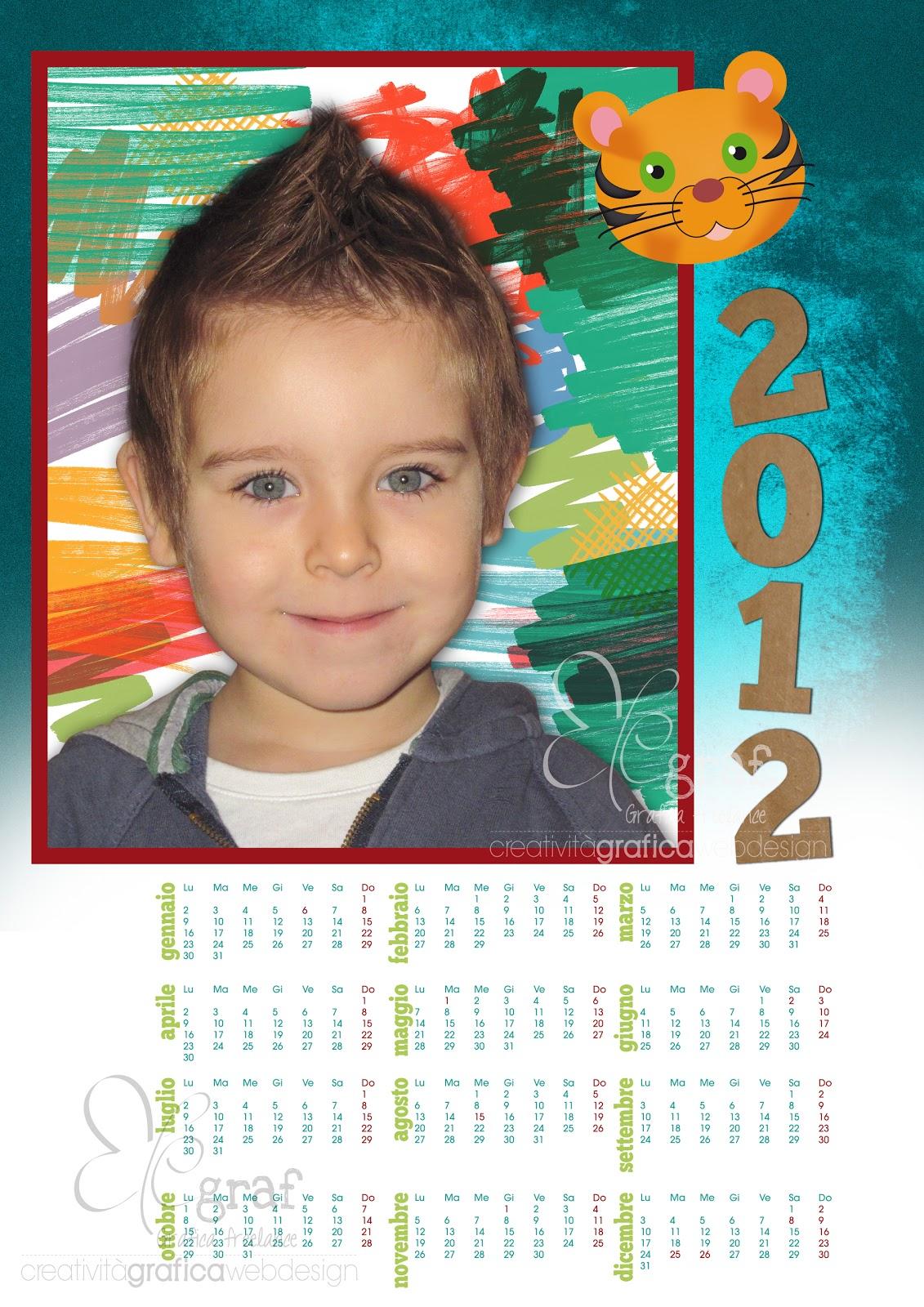 Eccomi qui con un nuovo modello per il calendario 2012. formato a3