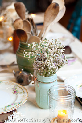 Farmhouse kitchen centerpiece
