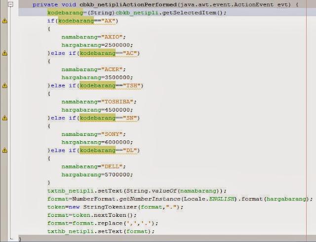 Contoh Program Transaksi Jual Beli Komputer Dengan Pada Pemograman Java