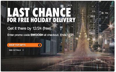 Dec. 19, 2011 NikeStore email