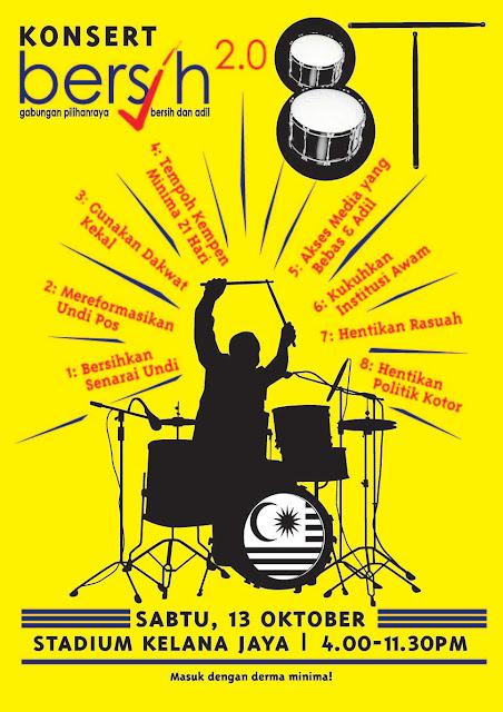 Konsert Bersih 8 Tuntutan pada 13 Oktober 2012