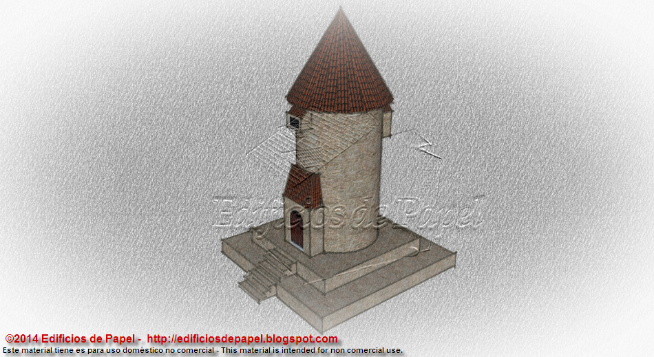 Medieval Tower Paper Model