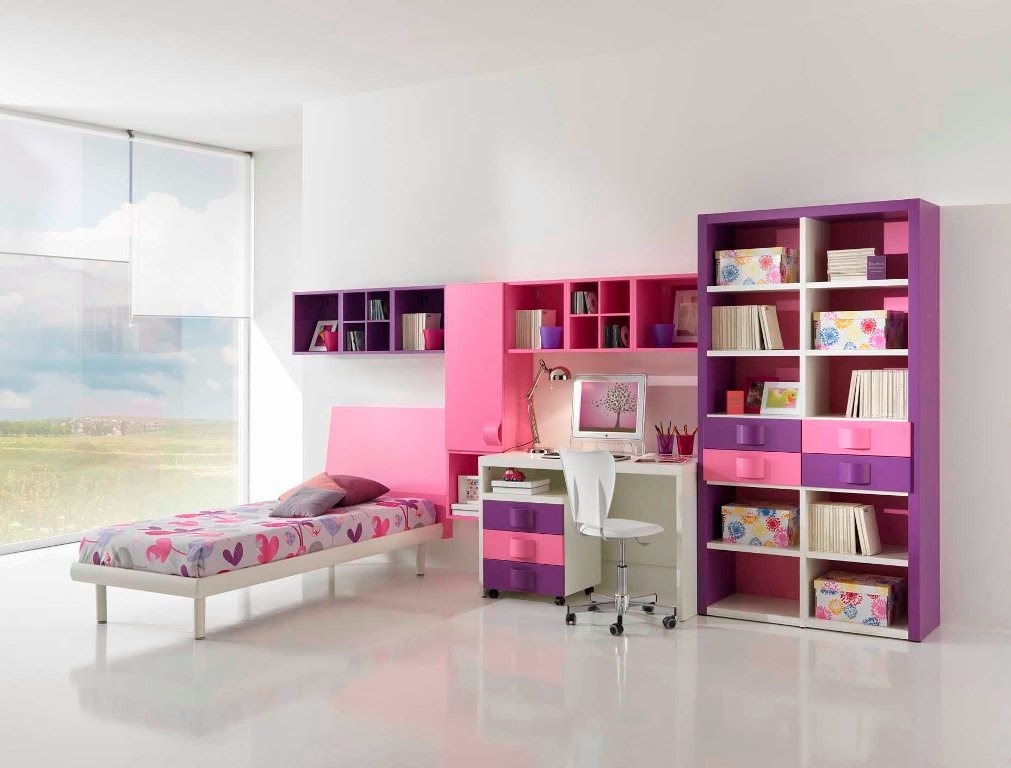 photo chambre fille moderne. Black Bedroom Furniture Sets. Home Design Ideas