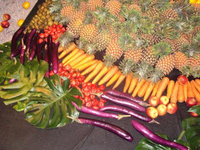 Dekorasi dari buah-buah dan sayur-sayuran