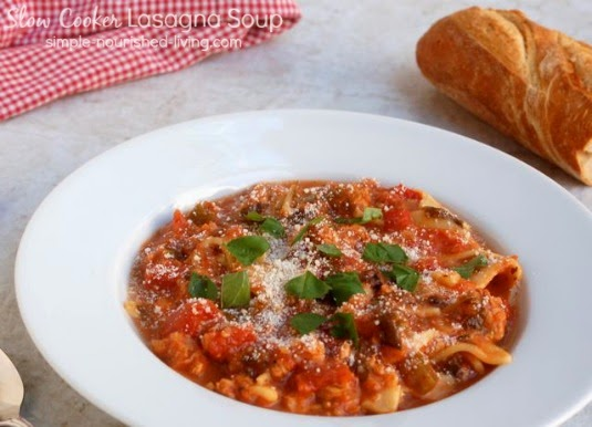 Marsha's Recipes: Simple Nourished Living Slow Cooker Lasagna Soup