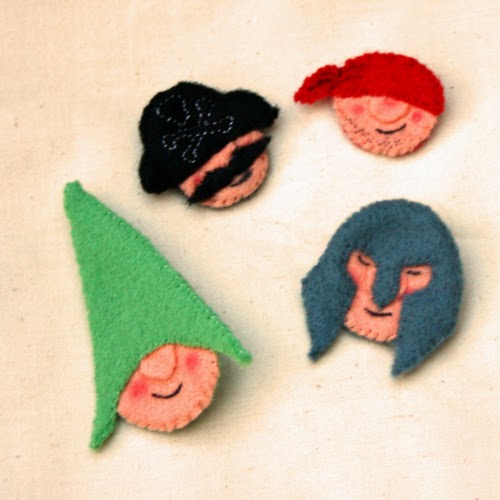 Felt Gnome Brooch
