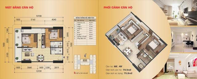 Thiết kế căn hộ 6B', 4B'