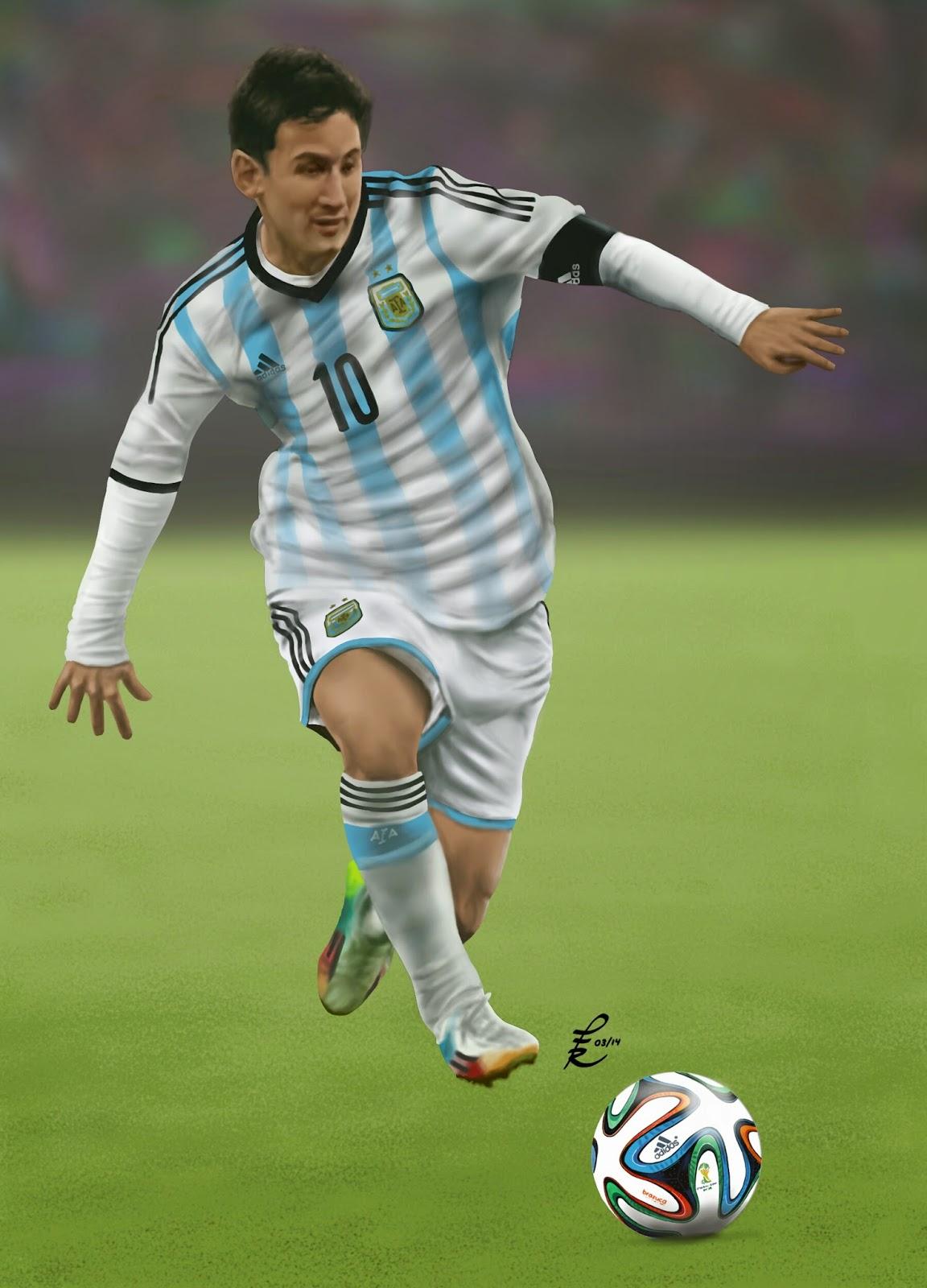 PABLO FERNNDEZ RIVERA  Mis Dibujos Messi World Cup