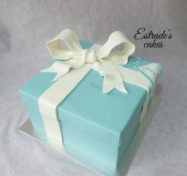 tarta caja de Tiffany 1