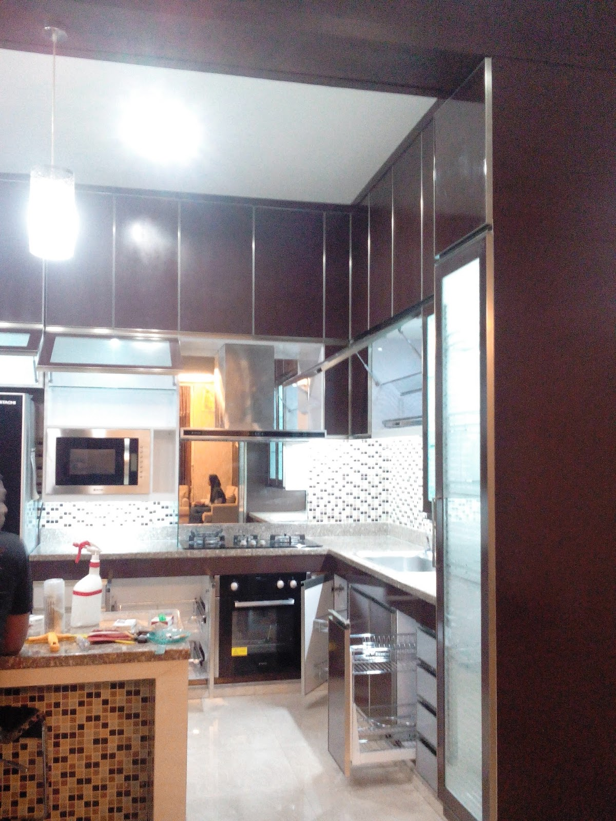 Desain interior desain mebel desain produk kontruksi dan for Kitchen set kompor tanam