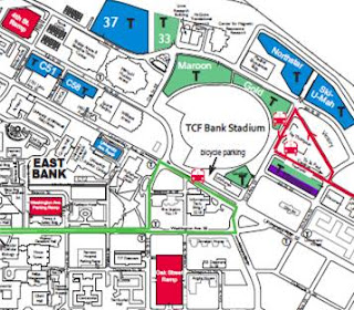 TCF Bank Stadium Gopher Football Parking